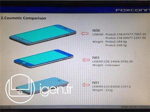 『iPhone 6』4.7インチおよび5.5インチバージョンの詳細サイズがFoxconnからリークされる