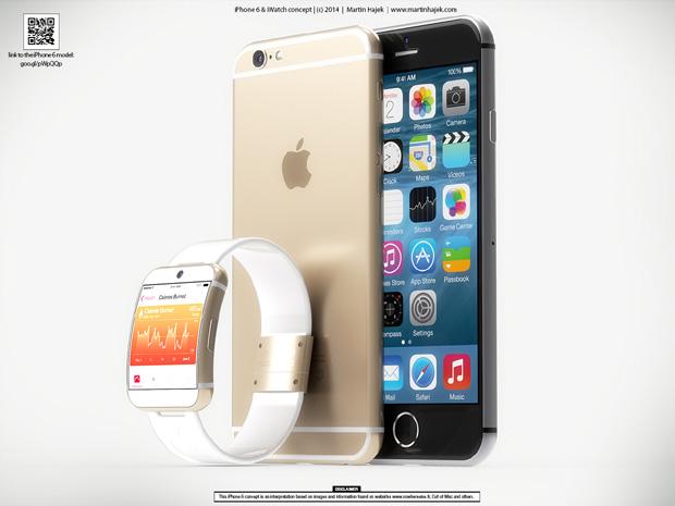 iPhone 6 予想画像 (Martin Hajek氏 レンダリング画像)