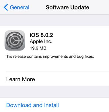 Apple、『iOS 8.0.1』のバグを修正し、『iOS 8.0.2』をリリース