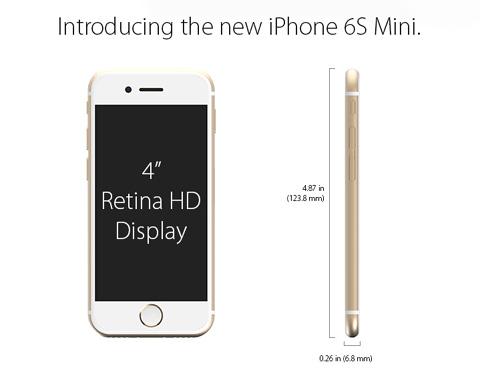 iPhone6s mini 4インチモデルコンセプト画像