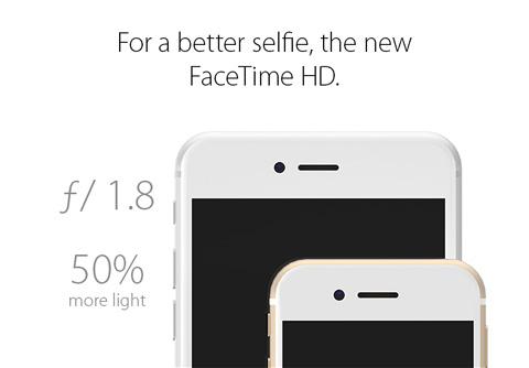 iPhone6s コンセプト画像 FaceTime HDカメラ