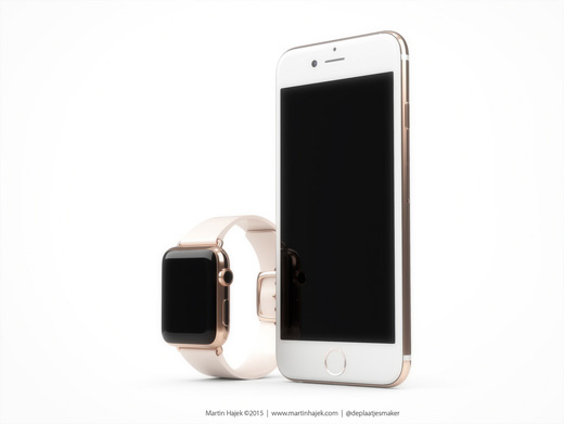 iPhone6s AppleWatch ローズゴールド