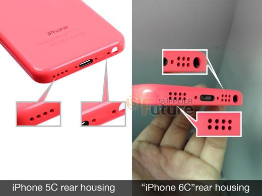 iPhone6cの底面スピーカーグリル