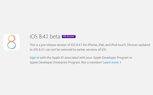 Apple、デベロッパー向け「iOS8.4.1 beta 2」をリリース