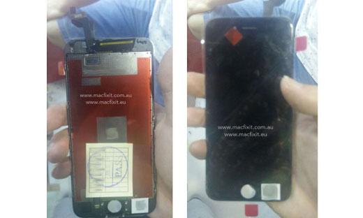 iPhone 6sのディスプレイ写真がリークされる