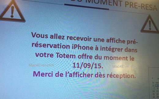 フランスのキャリア、iPhone6sの事前予約を9月11日に開始することが判明!