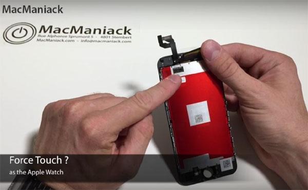 リーク動画で明らかになったForce Touchと思われる部品