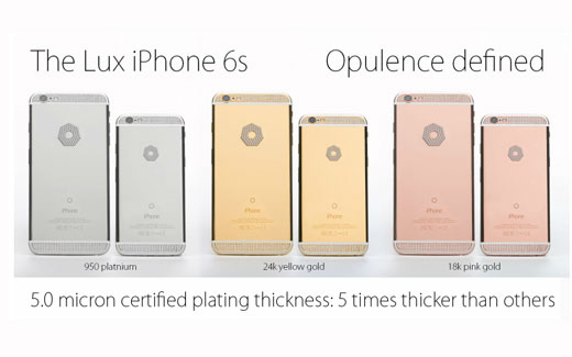 Brikk、20万ドル(約2,500万円)の「LUX IPHONE 6S」を予約受付開始