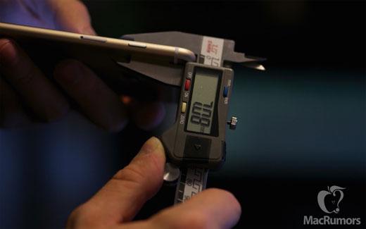 iPhone6s、高さ、幅、厚さ共に微増を示す測定結果に