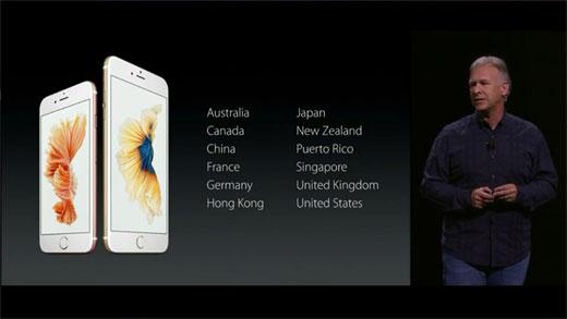 iPhone6s 第1次販売国