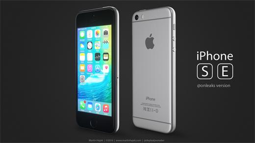 iPhone SEのレンダリング画像『@onleaksバージョン』