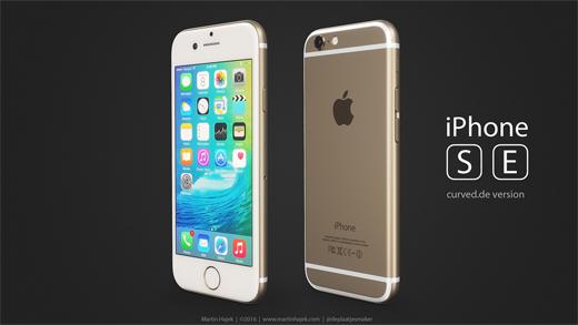 iPhone SEのレンダリング画像『Curved.deバージョン』』