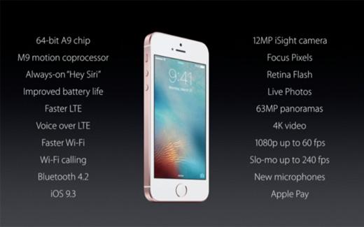 Apple、新型4インチ『iPhoneSE』を発表。予約開始日は3月24日、発売日は3月31日