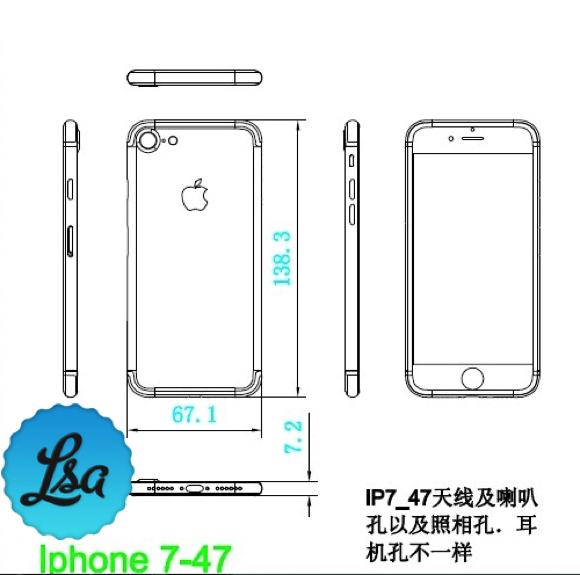 iPhone7 Plusの図面