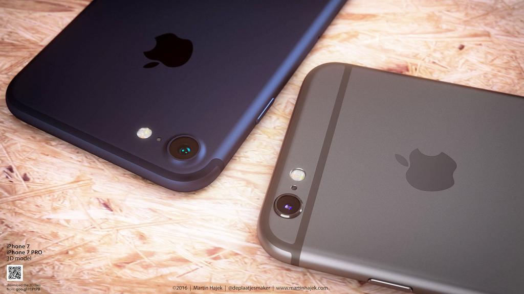 iPhone7新カラー『ダークブルー』と『スペースグレイ』のカラー比較イメージ