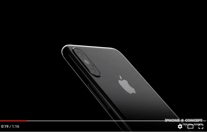 iPhone8の新リーク情報に沿ったコンセプトムービー