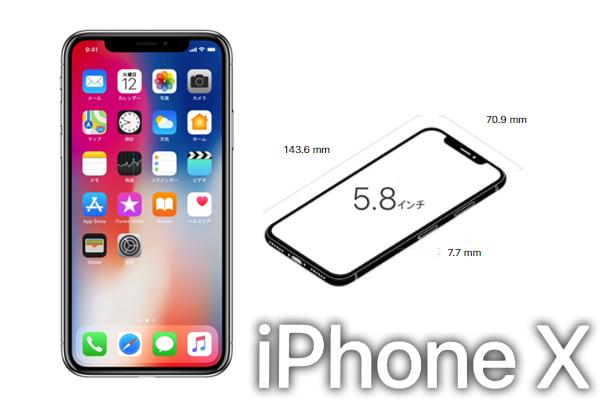 iPhoneXのサイズ・容量
