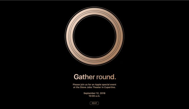 Apple 今秋の発表イベントを9月12日午前10時と発表