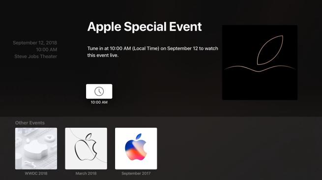 AppleTV用アプリをアップデートして、スペシャルイベントを視聴に備えよう!
