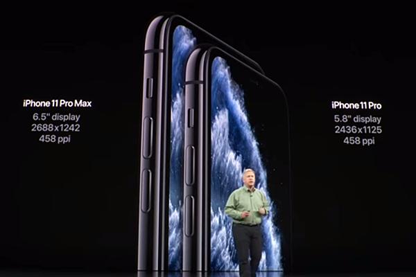 iPhone 11 Proのディスプレイ