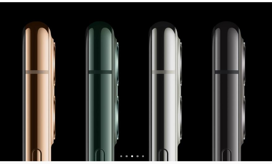 iPhone 11 Proのカラーはシルバー、ミッドナイトグリーン、スペースグレイ、ゴールドの4種類