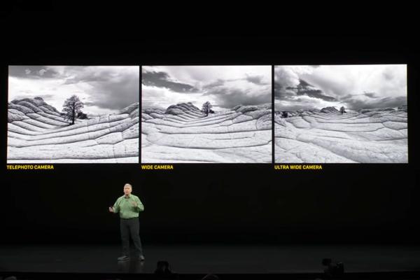 iPhone 11 Proのカメラ(超広角、広角、望遠)
