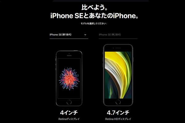 iPhoneSEサイズ比較