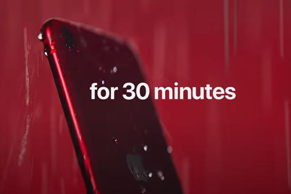 iPhone SE(2nd)の耐水防塵