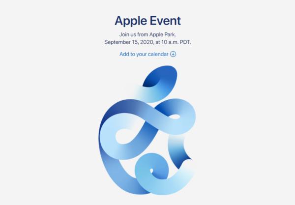 Apple、9月15日特別イベント開催を正式に発表。リモート視聴を呼び掛けへ