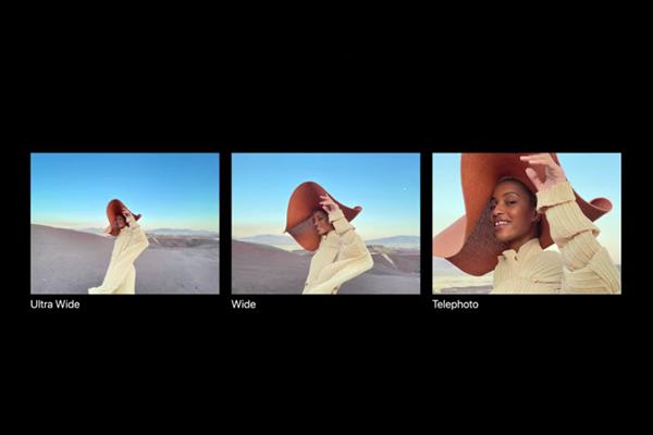 iPhone 12 Proのカメラ(超広角、広角、望遠)